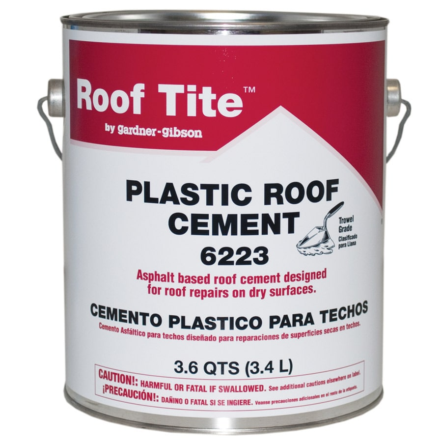 Roof Tite 3 6 Quart Waterproofer Cement Roof Sealant At