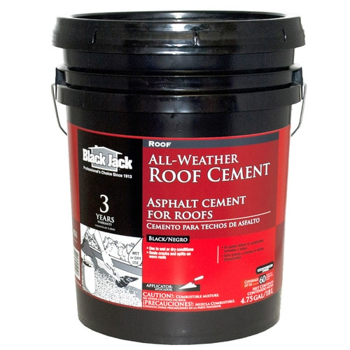 Black Jack 4 75 Gallon Fibered Waterproofer Cement Roof Sealant In The Roof Sealants Department At Lowes Com