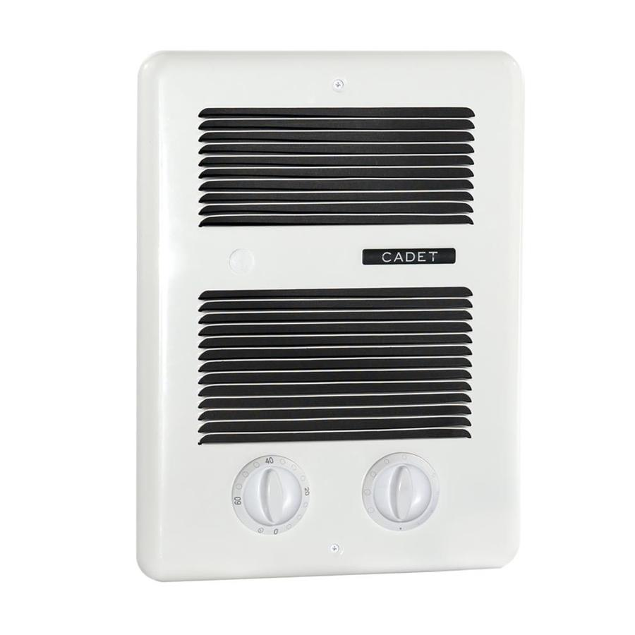 Shop cadet com pak bath 1000 watt 120 240 volt fan heater 4 in l x h grille at for Electric bathroom wall heaters