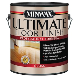 Minwax Ultimate Floor Finish Gloss Water-Based Polyurethane (Actual Net Contents: 128-fl oz)