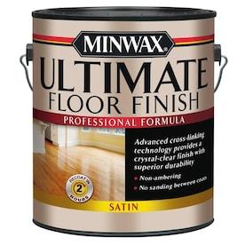 Minwax Ultimate Floor Finish Satin Water-Based Polyurethane (Actual Net Contents: 128-fl oz)