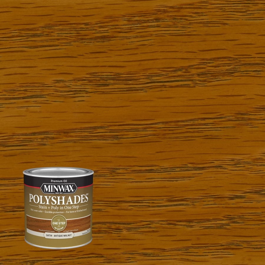 Minwax Pre-Tinted Antique Walnut Satin Interior Stain (Actual Net Contents: 8-fl oz)