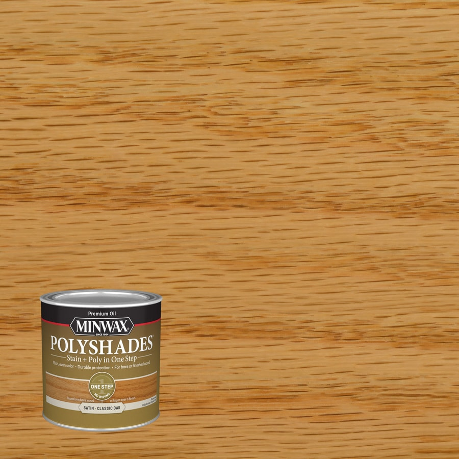 Minwax Pre-Tinted Classic Oak Satin Interior Stain (Actual Net Contents: 8-fl oz)