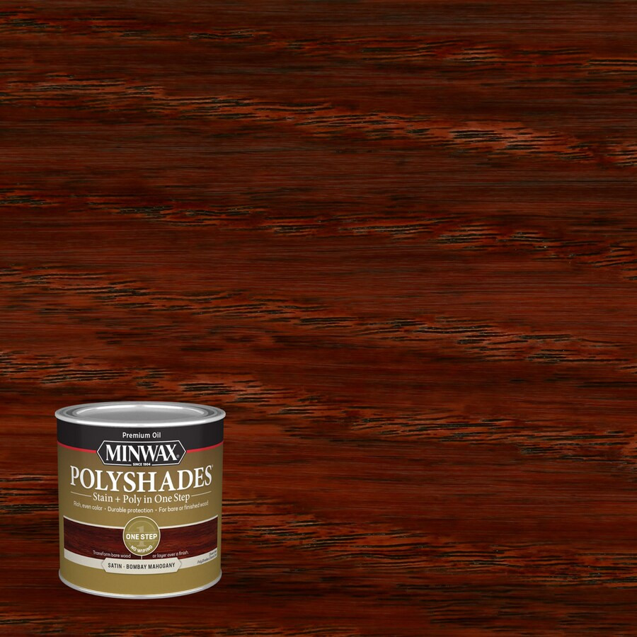 Minwax Pre-Tinted Bombay Mahogany Satin Interior Stain (Actual Net Contents: 8-fl oz)