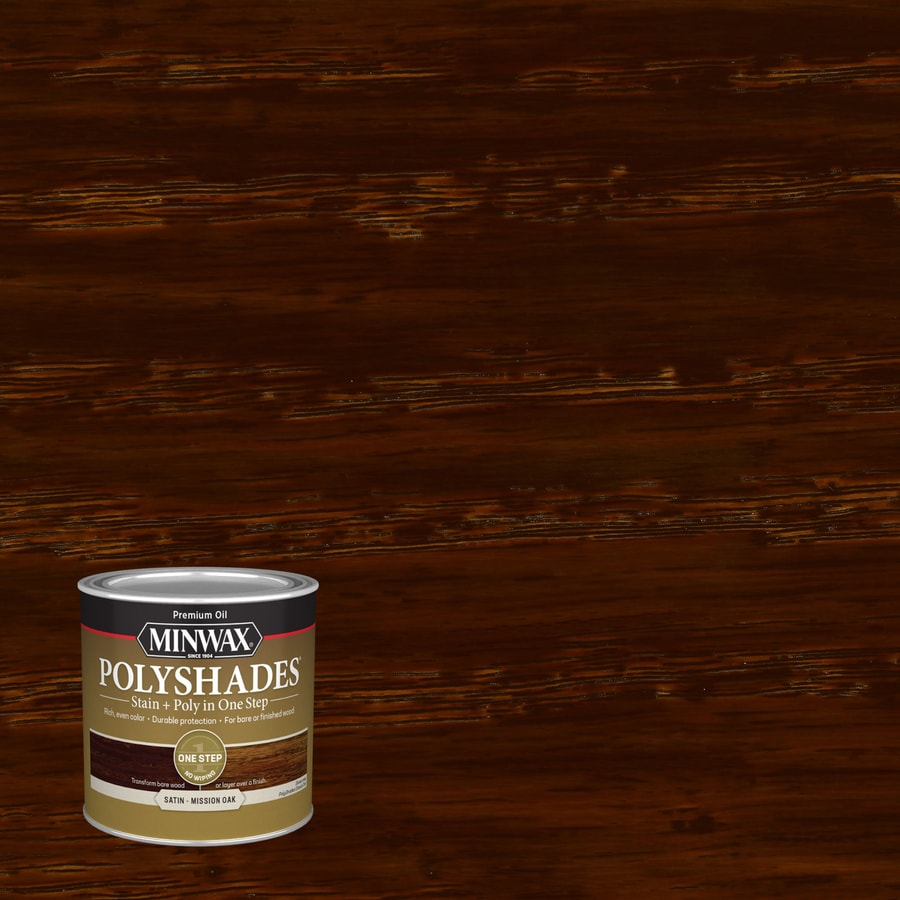 Minwax Pre-Tinted Mission Oak Satin Interior Stain (Actual Net Contents: 8-fl oz)