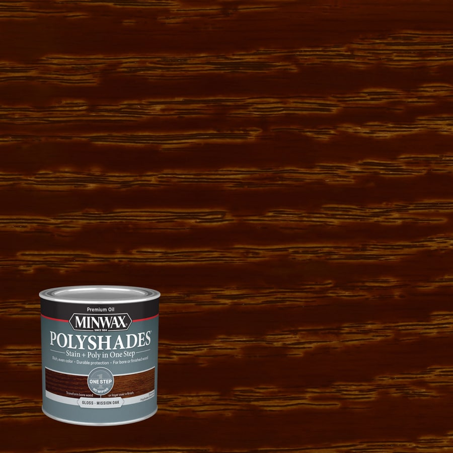 Minwax Pre-Tinted Mission Oak Gloss Interior Stain (Actual Net Contents: 8-fl oz)