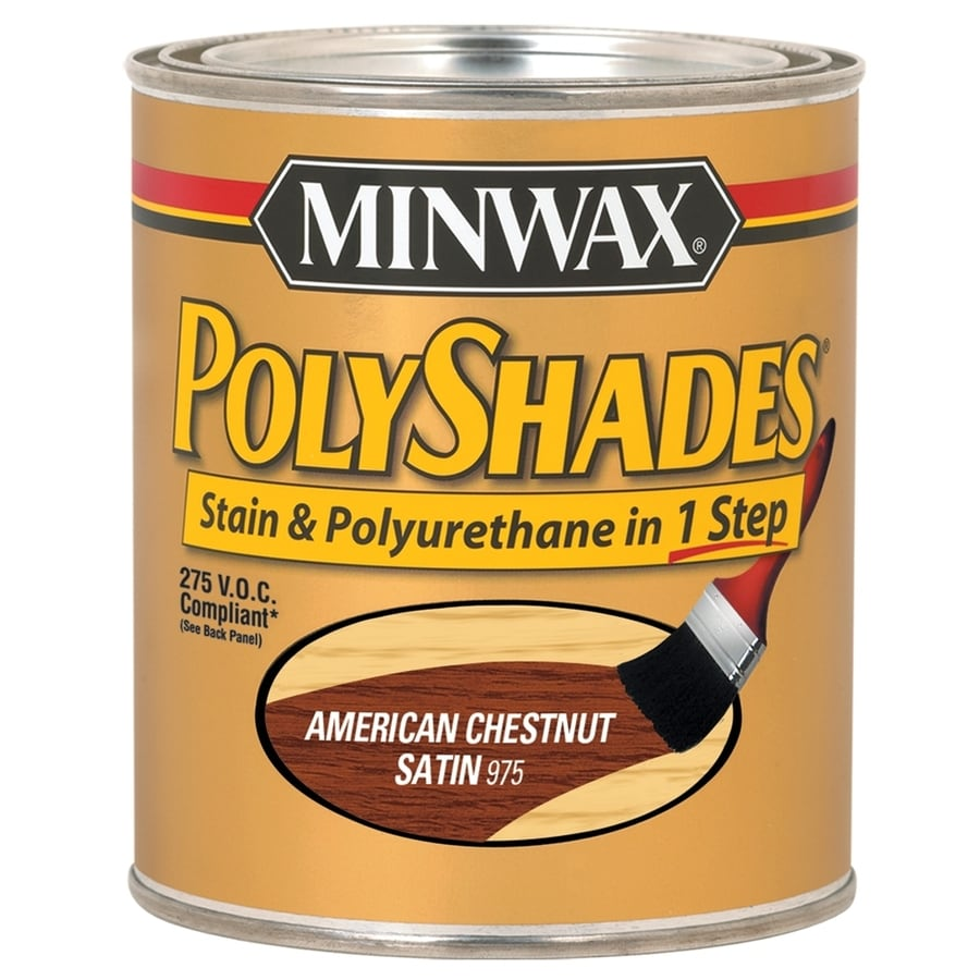 Minwax Pre-Tinted American Chestnut Satin Interior Stain (Actual Net Contents: 8-fl oz)