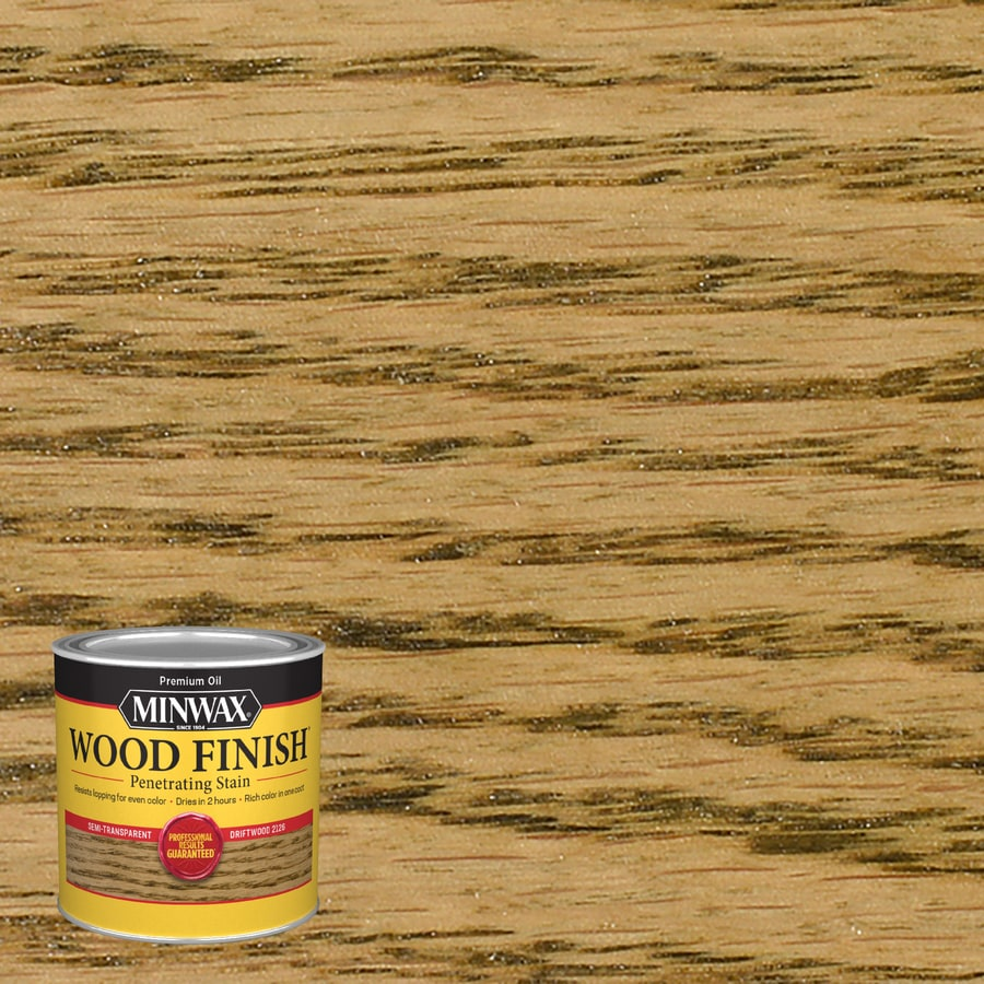 Minwax Wood Finish Driftwood Oil Based Interior Stain Actual Net Contents 8