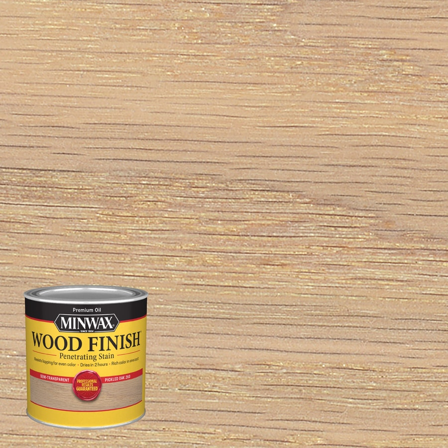 Minwax Wood Finish Pickled Oak Oil Based Interior Stain Actual Net Contents 8