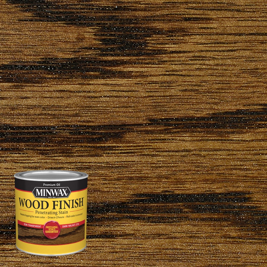 Minwax Wood Finish Dark Walnut Oil Based Interior Stain Actual Net Contents 8