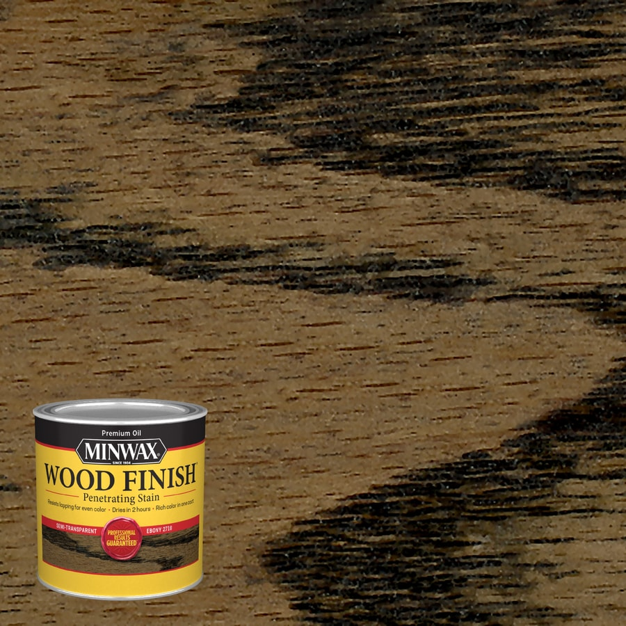 Minwax Series Name 8 fl oz Ebony Base Interior Stain