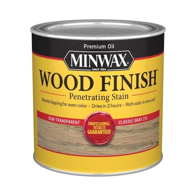 Interior Grey Wood Stain: Minwax Wood Finish Satin Classic Gray Oil-based Interior