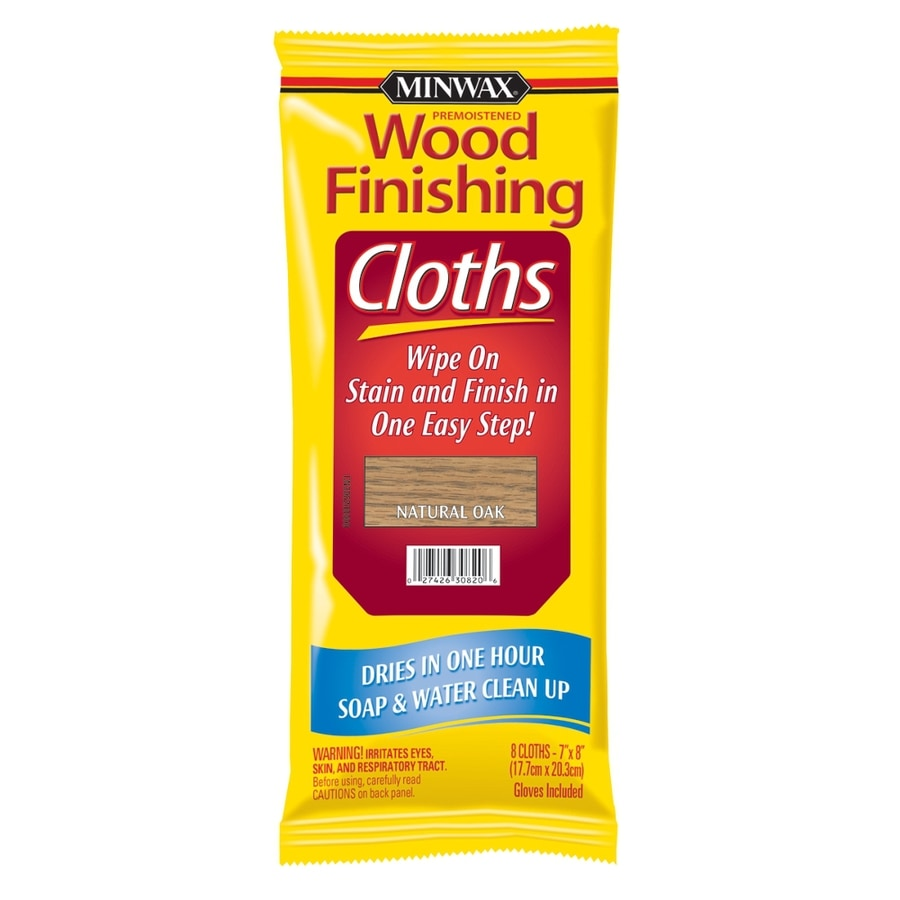 Shop Minwax Wood Finishing Cloths Natural Oak Actual Net Contents 8 Count At