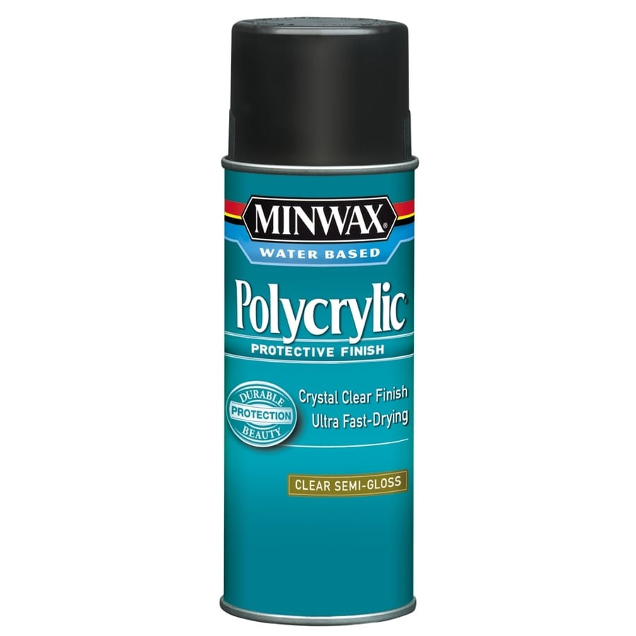 Shop Minwax Polycrylic 11.5-fl oz Semi-gloss Water-based ...