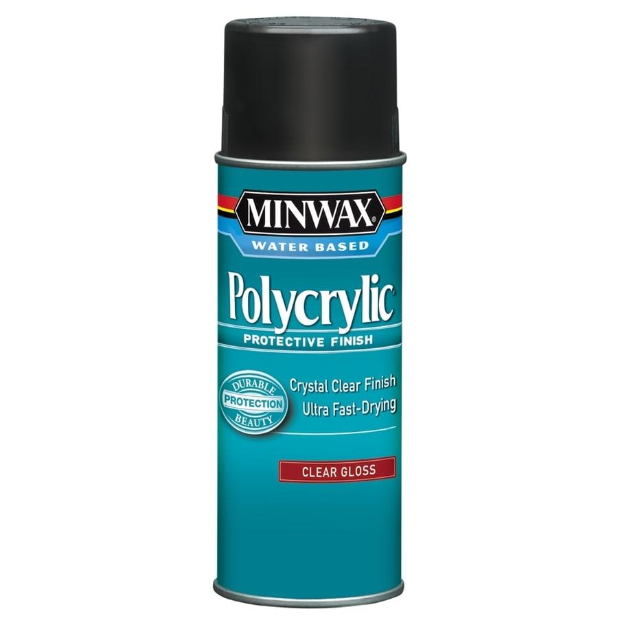 Shop minwax gloss water based 11 5 fl oz polyurethane at for Minwax polyurethane