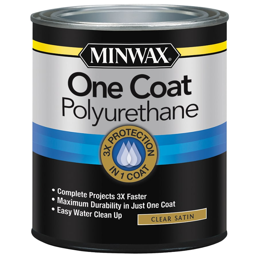 Minwax One Coat Polyurethane Satin Water Based Polyurethane (Actual Net  Contents: 32
