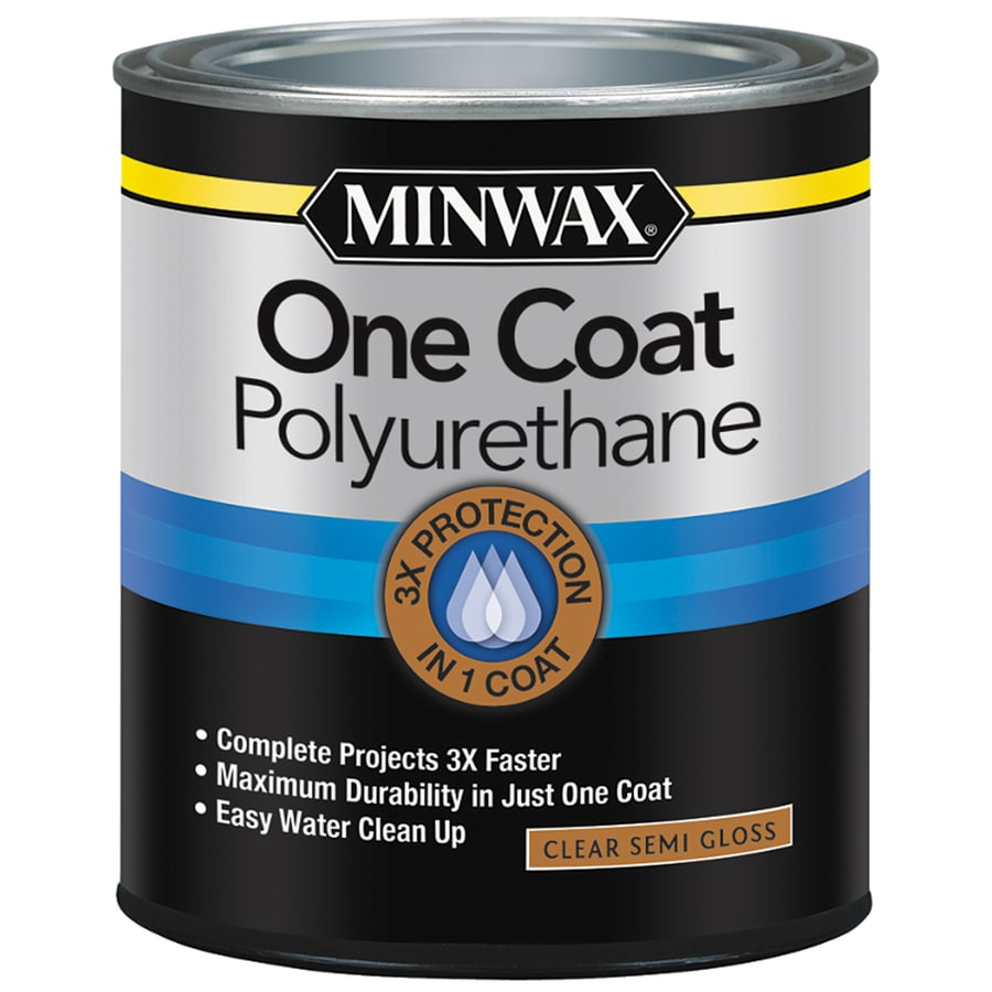 Minwax One Coat Polyurethane Semi-Gloss Water-Based 32-fl oz Polyurethane