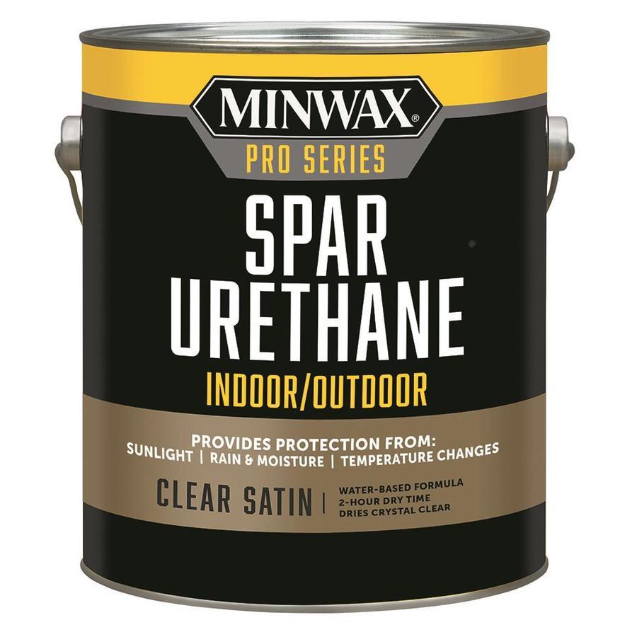 Minwax Satin Water-Based 128-fl oz Polyurethane
