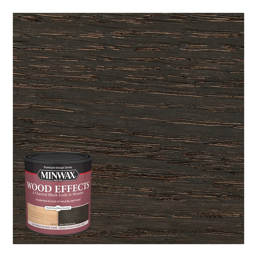 Minwax Wood Effects Water Based Charred Black Look Interior Stain 1 Quart In The Interior Stains Department At Lowes Com
