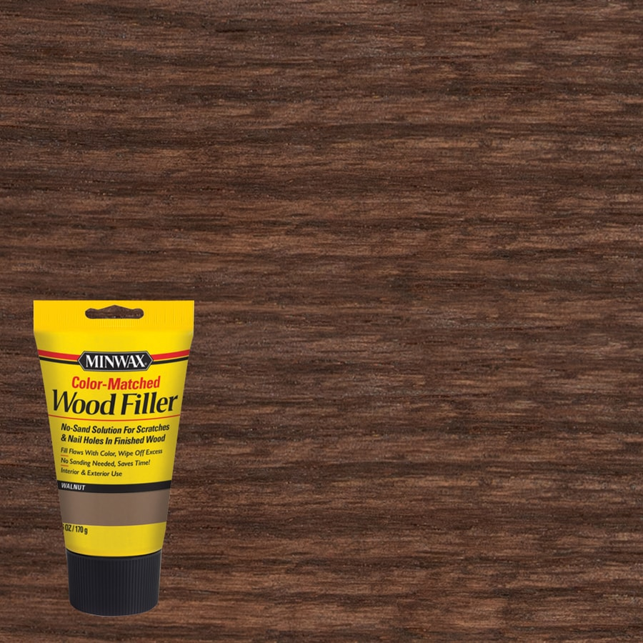 Minwax Color Matched 6 Oz Walnut Wood Filler At Lowes Com