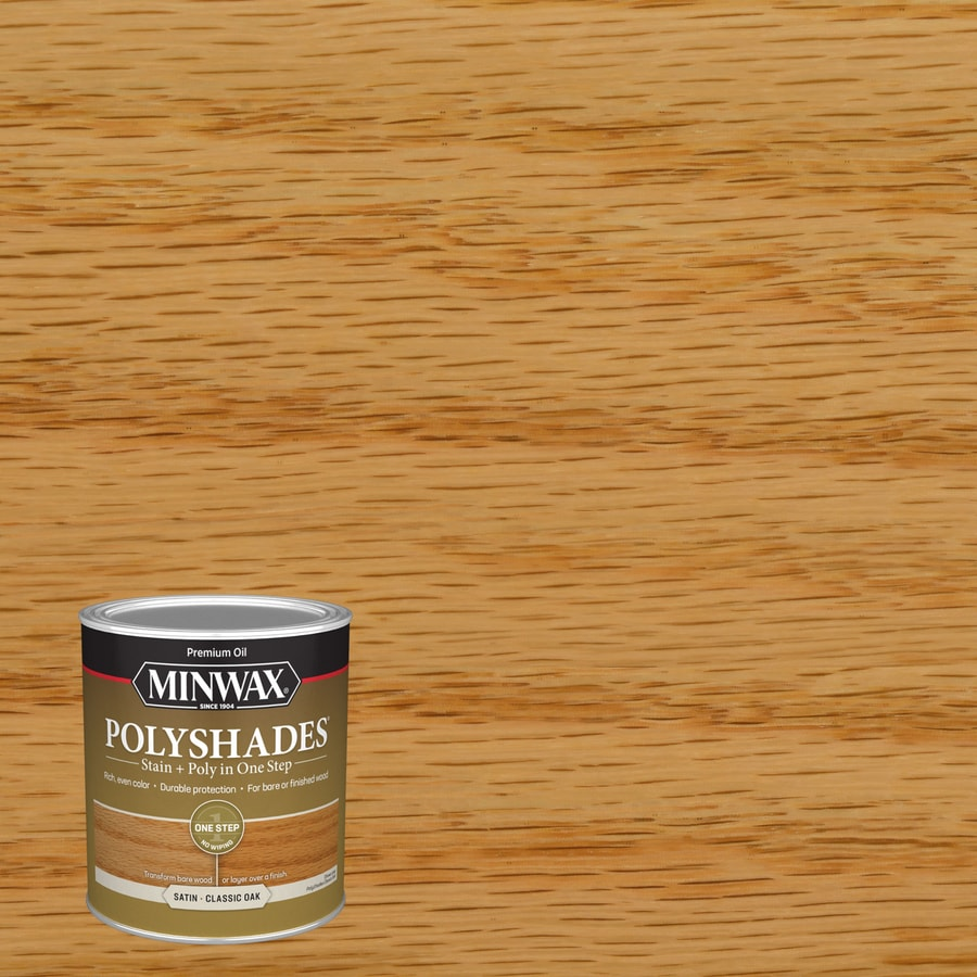 Minwax Polyshades Clic Oak Oil Based Interior Stain Actual Net Contents 32