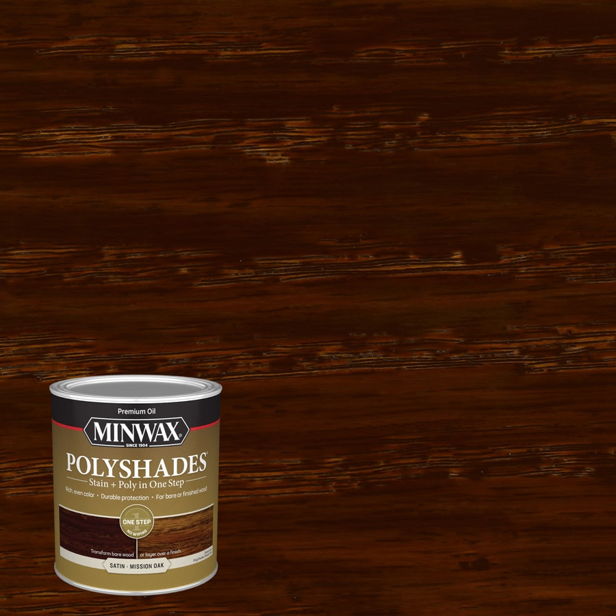 Attrayant Minwax PolyShades Mission Oak Oil Based Interior Stain (Actual Net  Contents: 32