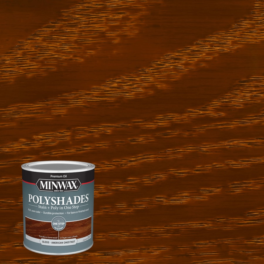 Minwax Pre-Tinted American Chestnut Gloss Interior Stain (Actual Net Contents: 32-fl oz)