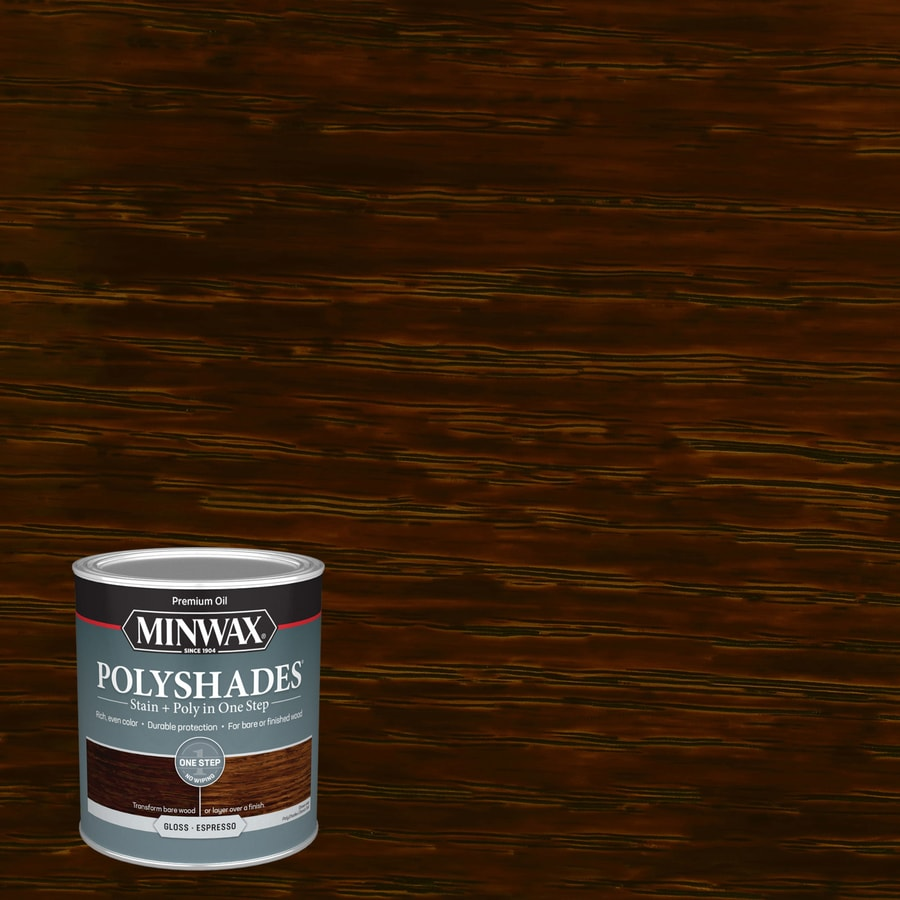 Minwax Polyshades Gloss Espresso Oil Based Interior Stain Actual Net Contents  Fl Oz