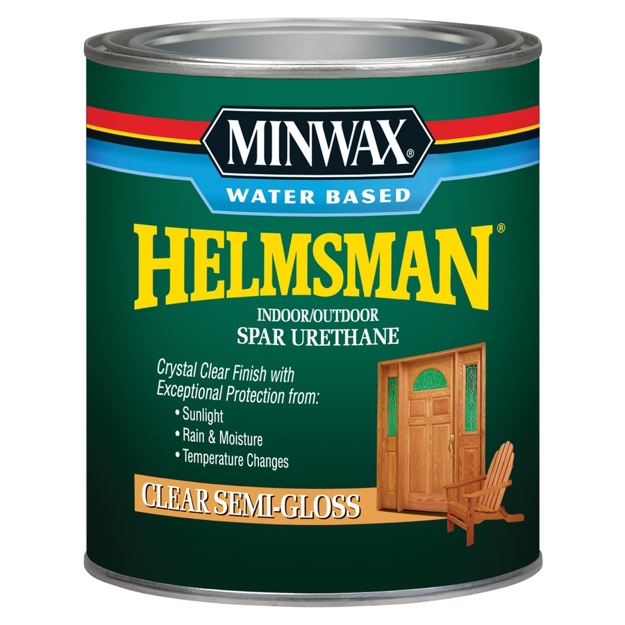 Minwax Semi-Gloss Water-Based 32-fl oz Varnish