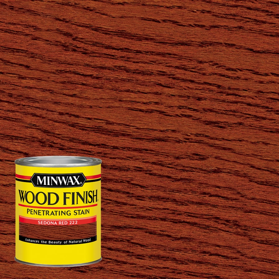 Minwax Wood Finish Sedona Red Oil Based Interior Stain Actual Net Contents 32 Fl Oz