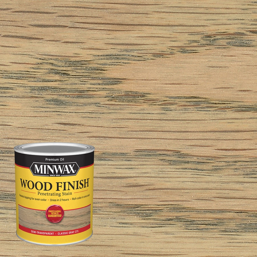 Shop Minwax Wood Finish Classic Grey Oilbased Interior Stain