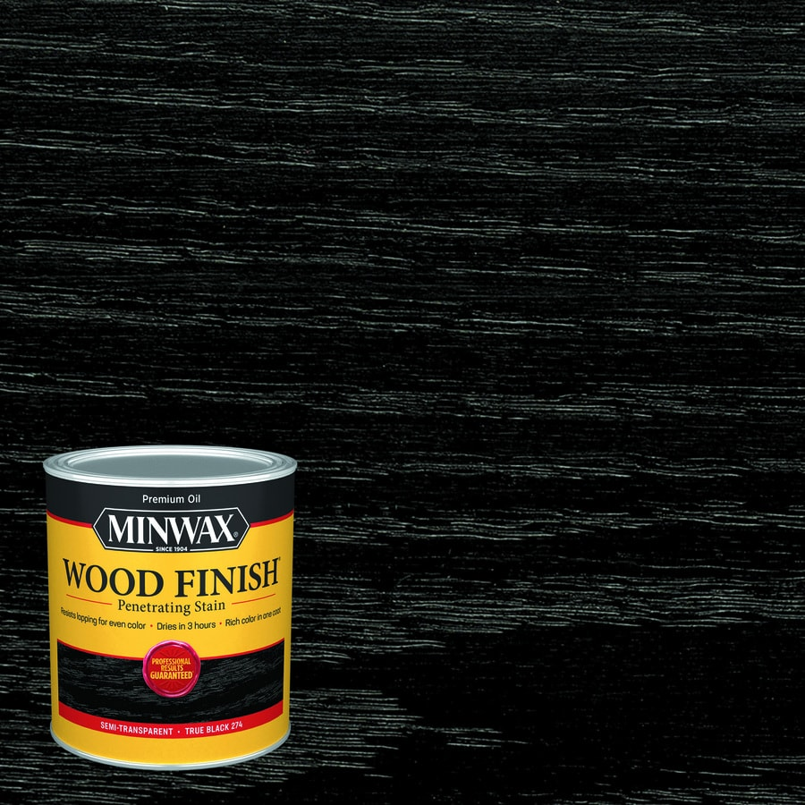 Minwax Wood Finish Satin True Black Oil Based Interior Stain Actual