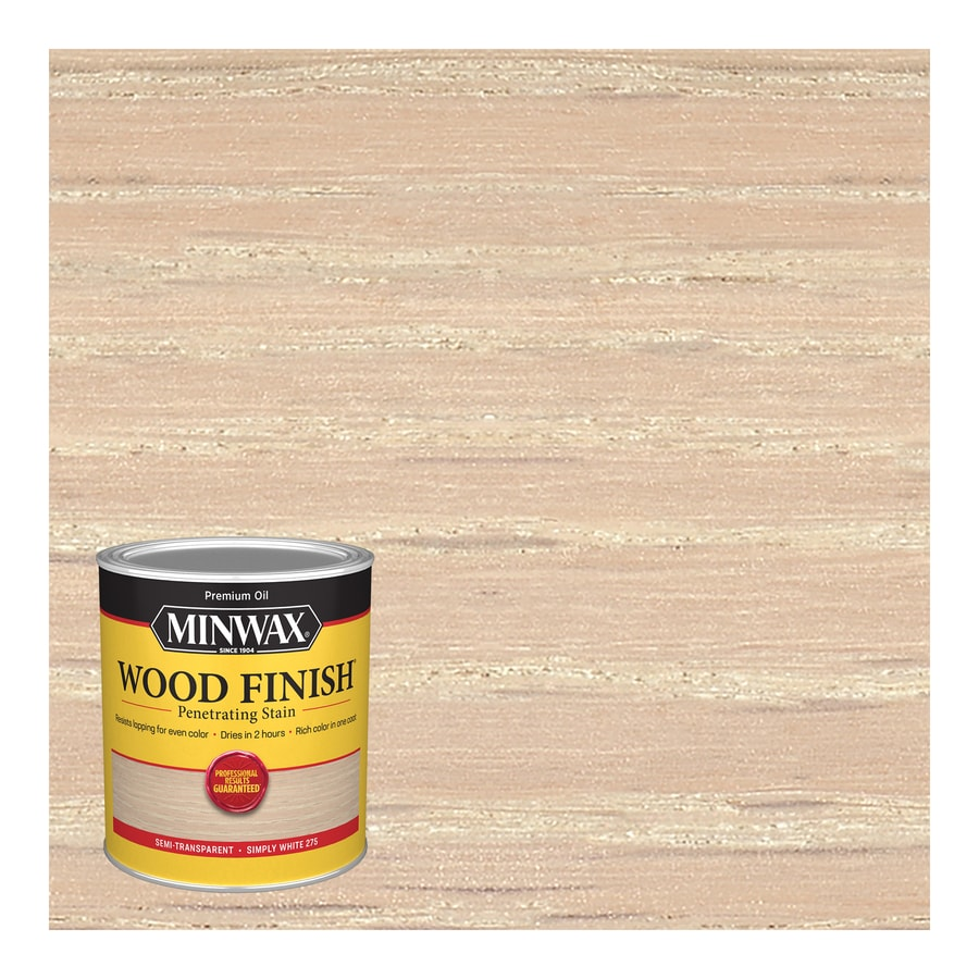 Minwax Wood Finish Simply White Oil Based Interior Stain Actual Net Contents 32