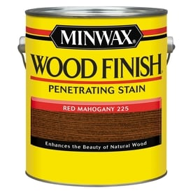 Minwax Wood Finish Red Mahogany Oil Based Interior Stain Actual Net Contents 128