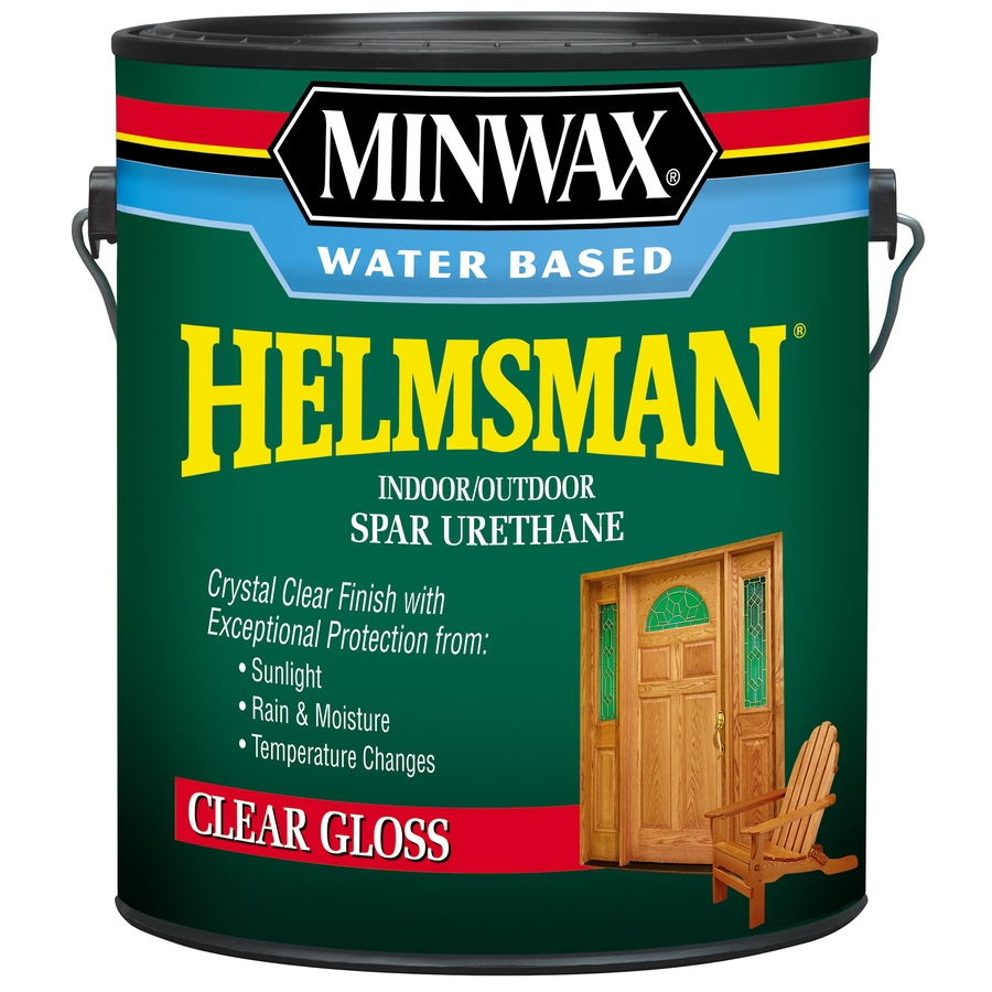 Water Based Polyurethane For Floors Lowes: Minwax Helmsman Gloss Water-based Spar Urethane Varnish