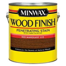 Minwax Wood Finish Satin Red Mahogany Oil Based Interior Stain Actual Net Contents