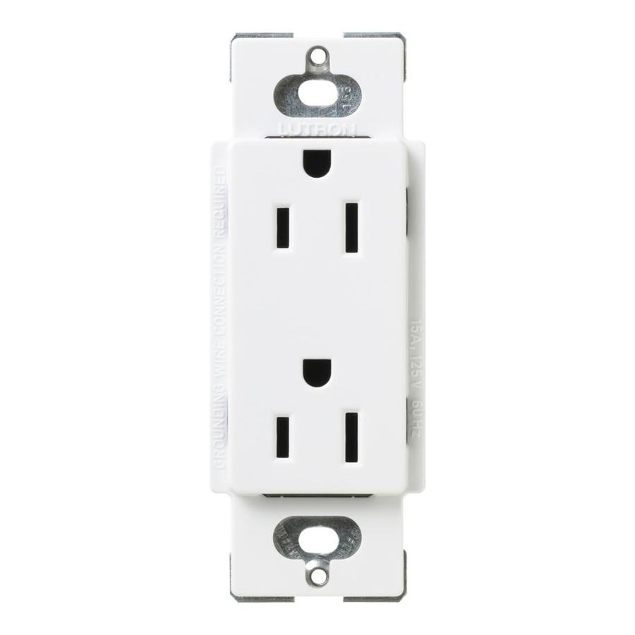 Lutron Claro 20-Amp 120/125-Volt Snow Indoor Decorator Wall Outlet