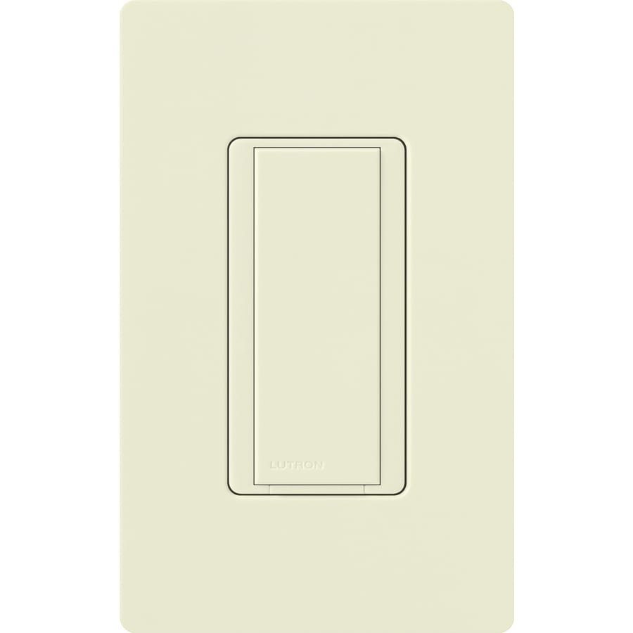 Lutron Maestro 8-Amp Single Pole Biscuit Indoor Push Light Switch