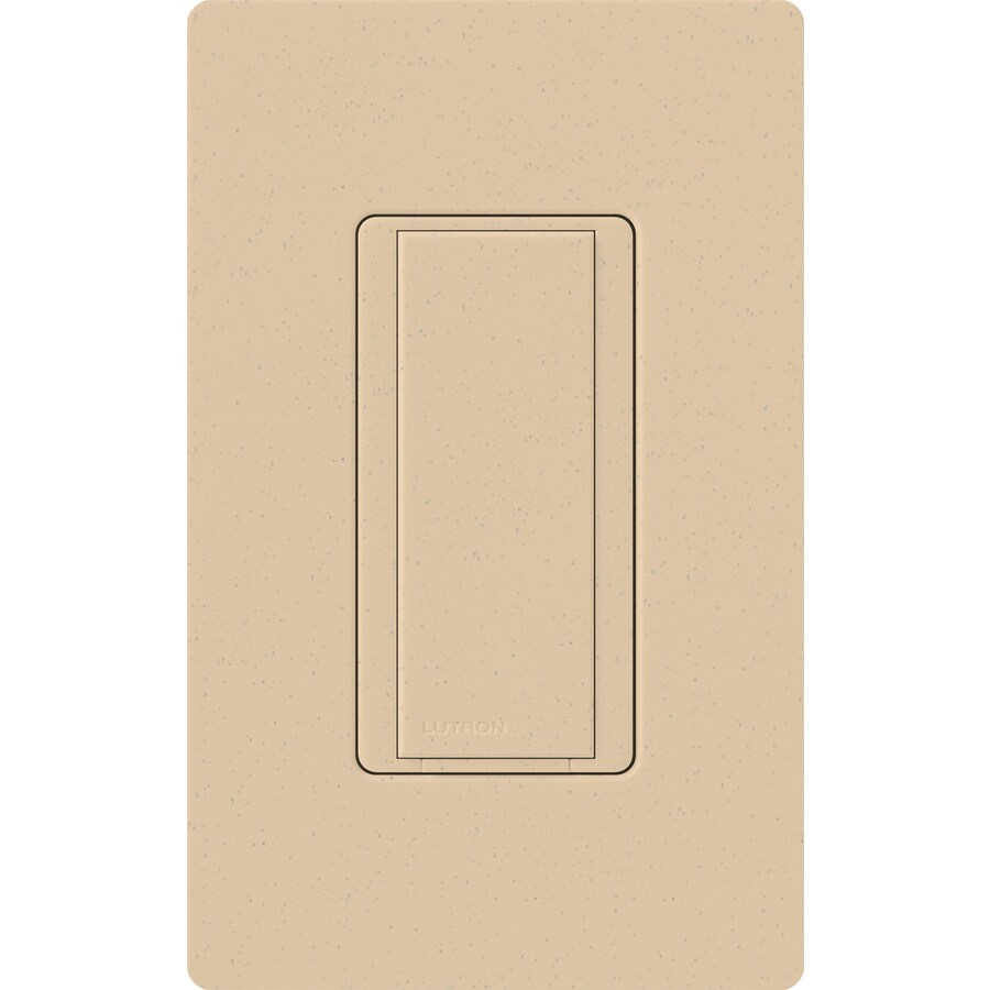 Lutron Maestro 8-Amp Single Pole Desert Stone Push Indoor Light Switch