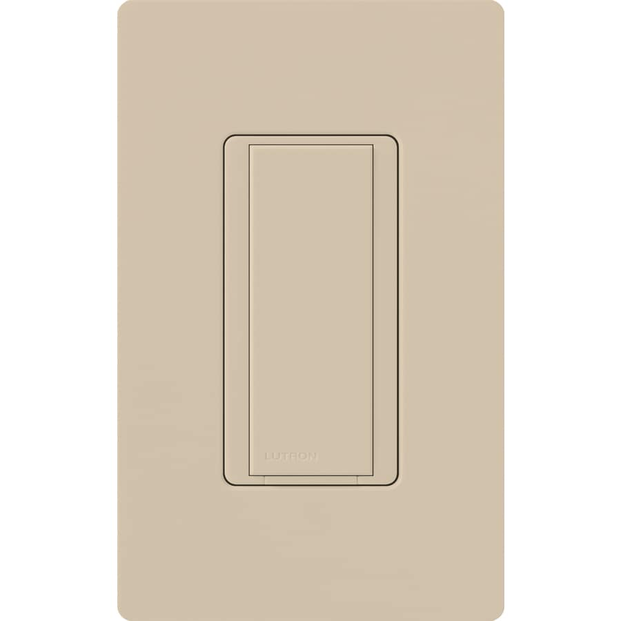 Lutron Maestro 8-amp Single Pole Taupe Push Indoor Light Switch