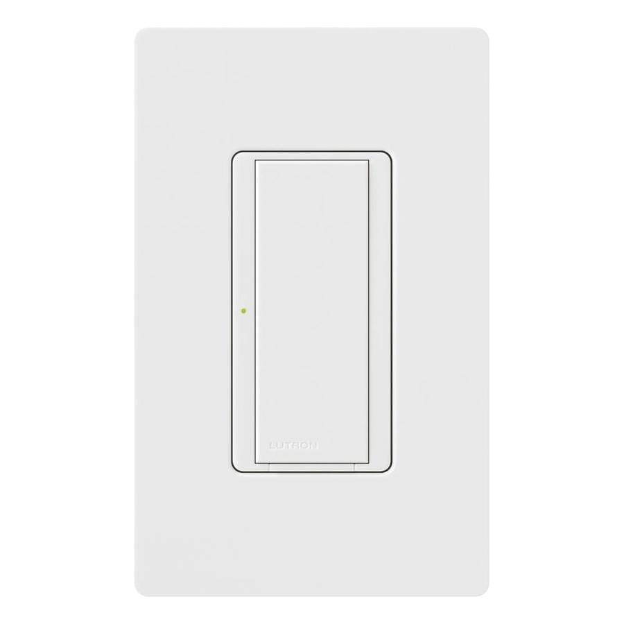 Lutron Maestro 8-Amp Single Pole 3-Way White Push Indoor Light Switch
