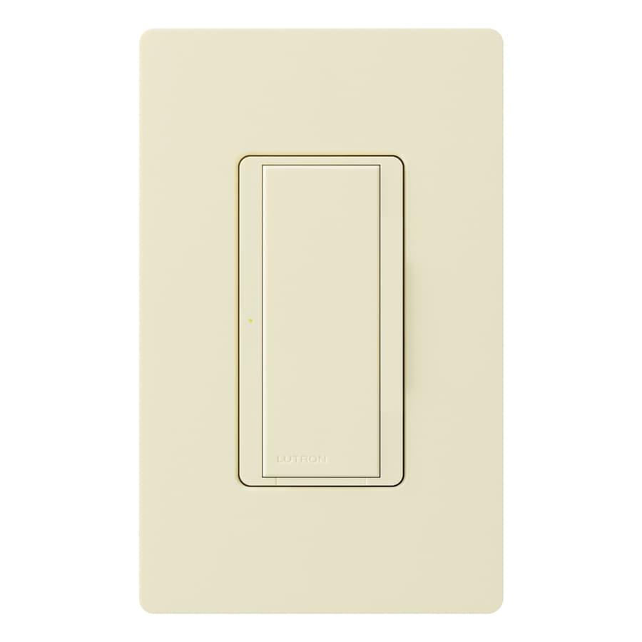 Lutron Maestro 8-Amp Single Pole 3-Way Light Almond Indoor Push Light Switch