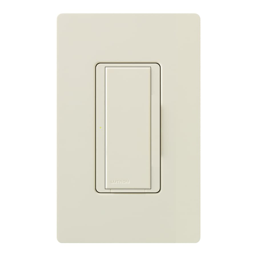 Lutron Maestro 8-Amp Single Pole 3-Way Light Almond Indoor Push Light Switch