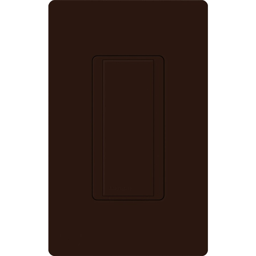Lutron Maestro 8-Amp Single Pole 3-Way Brown Indoor Push Light Switch