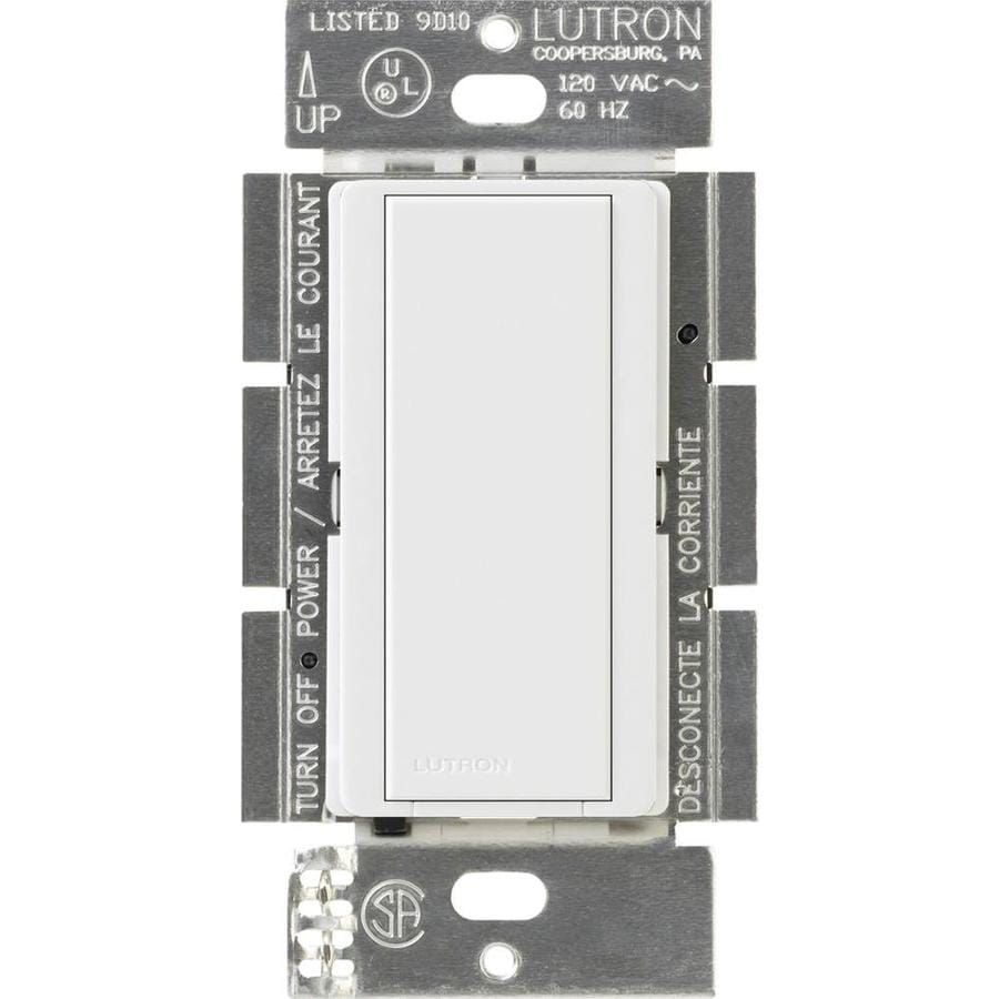 Lutron Maestro 8-Amp Single Pole White Indoor Push Light Switch