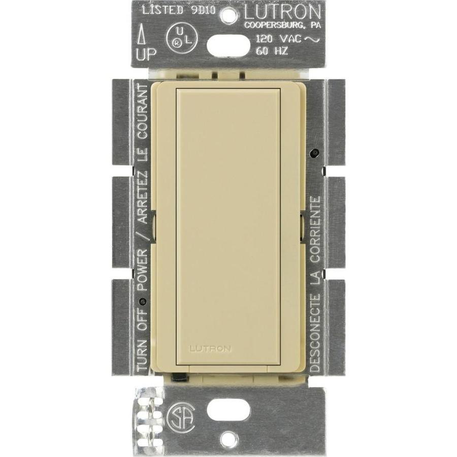 Lutron Maestro 8-Amp Single Pole Ivory Push Indoor Light Switch