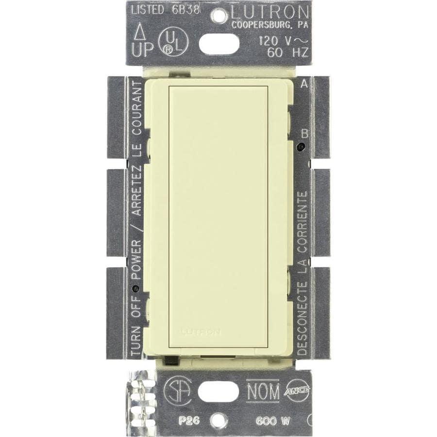 Lutron Maestro 8-Amp Single Pole Almond Push Indoor Light Switch
