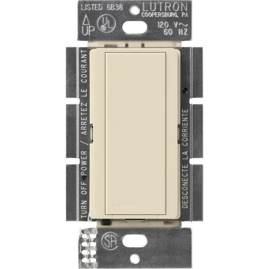Lutron Maestro 8-Amp Single Pole Light Almond Push Indoor Light Switch