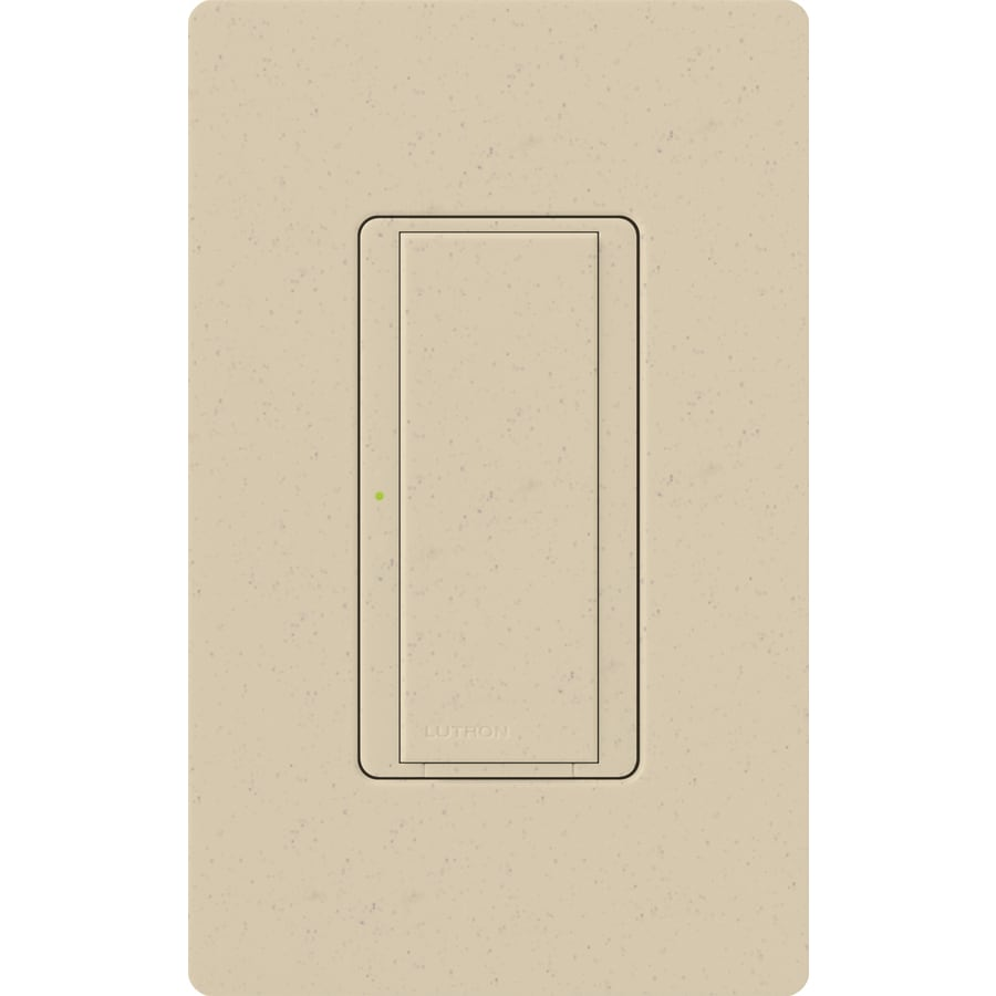 Lutron Maestro 8-Amp Single Pole 3-Way Stone Indoor Push Light Switch