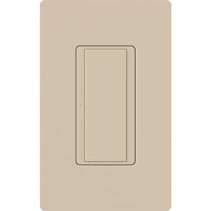 Lutron Maestro 8-amp Single Pole 3-way Taupe Push Indoor Light Switch